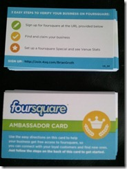 BrianGroth Foursquare Ambassador Card