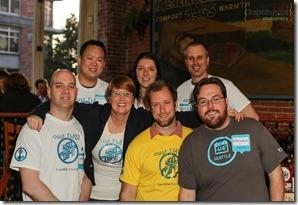 The 2012 Foursquare Day Seattle Crew
